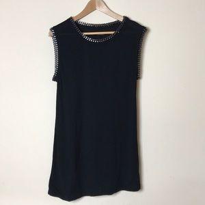 All Saints Black Chain Sleeveless Shirt